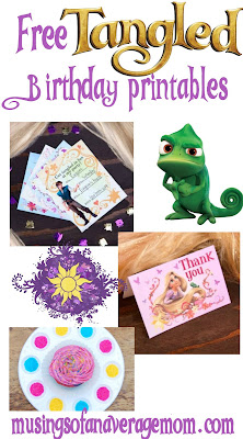 free tangled birthday printables