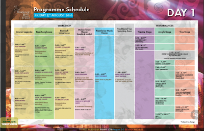 Jadwal program RWMF 2016