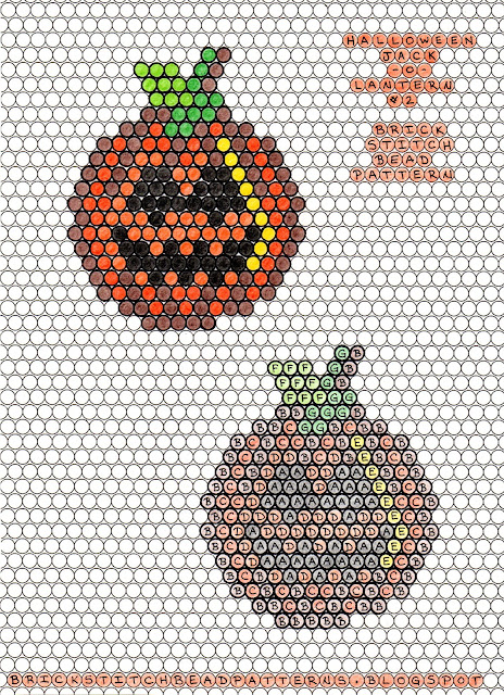Free printable brick stitch seed bead pattern download.