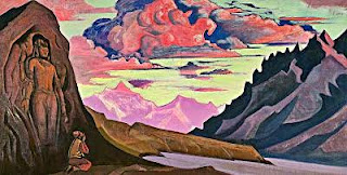 Canvas Painting by Nicholas Roerich, Maitreya