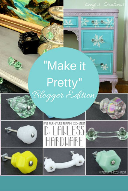 Fun decoupage Furniture Makeover with D Lawless Hardware