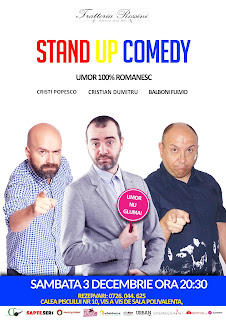 Stand-Up Comedy Sambata 3 Decembrie Bucuresti Trattoria Rossini