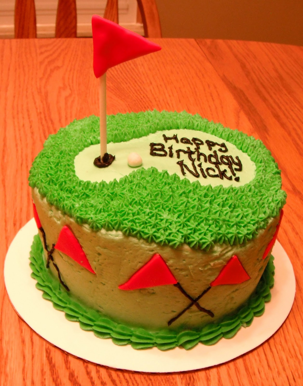 Golf Cake  sc 1 st  Scrapping Runner Creations & Scrapping Runner Creations: Golf Cake