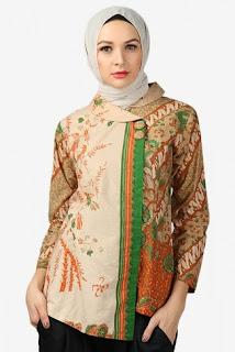 Blus Wanita Muslim Batik