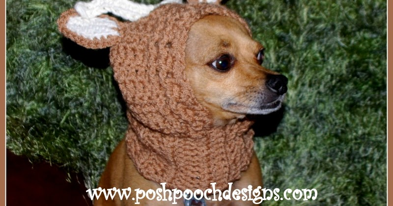 Posh Pooch Designs Dog Clothes: New Pattern Release - Deer Antlers Dog Snood ...