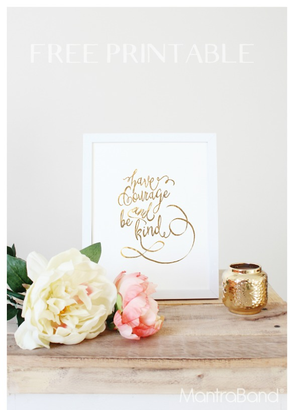 Gold foil Cinderella printable