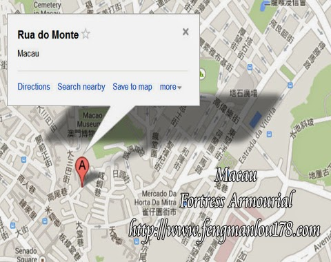 澳门大炮台谷歌地图