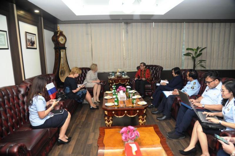 Menkumham Yasonna dan Dubes Rusia Lyudmila Bahas MLA Kedua Negara