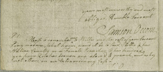 Part of a handwritten letter, including the signature of Samson Occom.