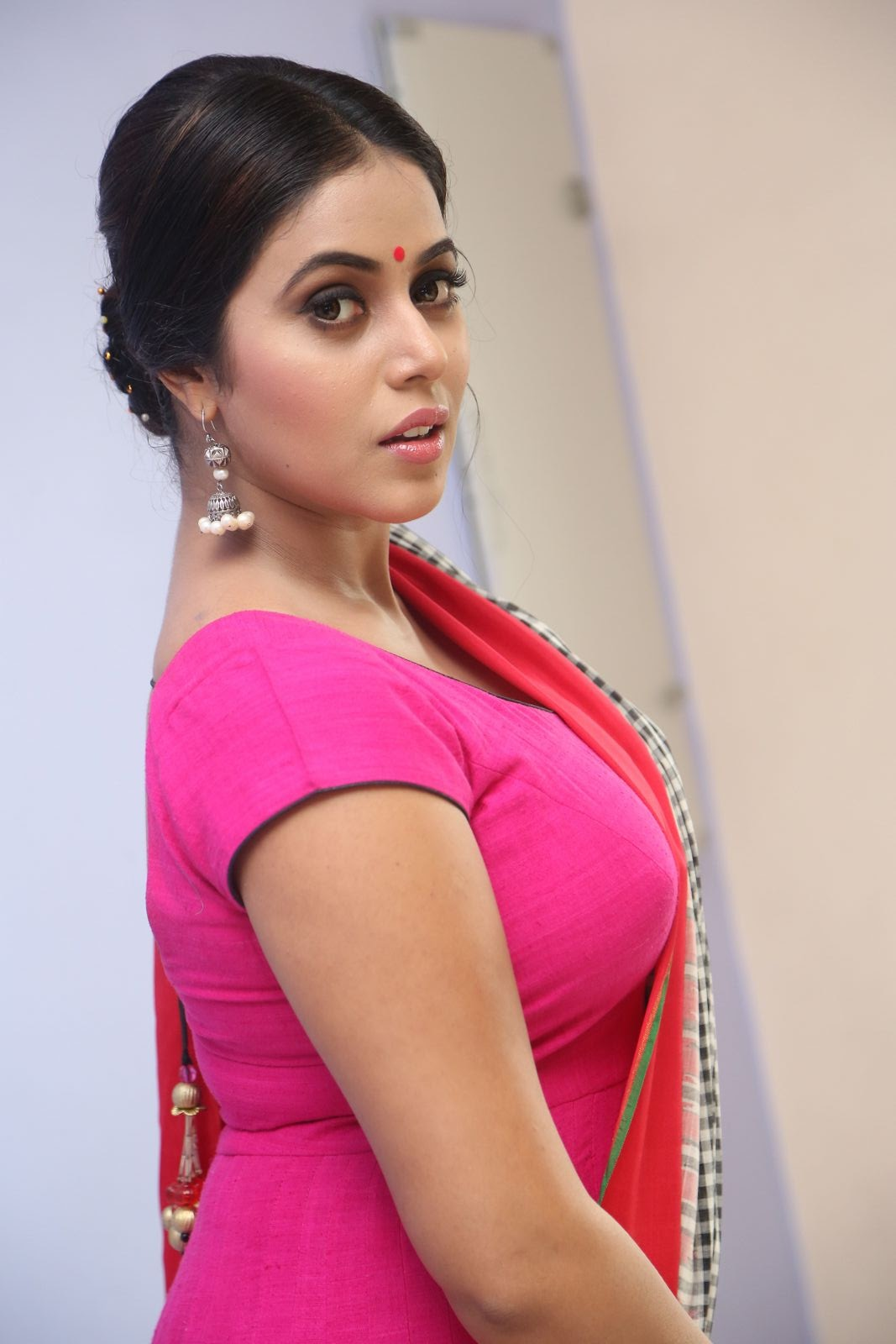 Poorna Latest Sizzling Photo Shoot In Pink-2578