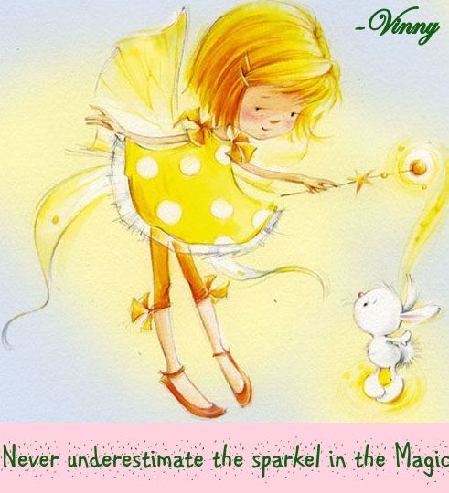 Never underestimate the sparkle in the magic.