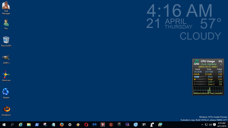 how to add widgets on windows 10