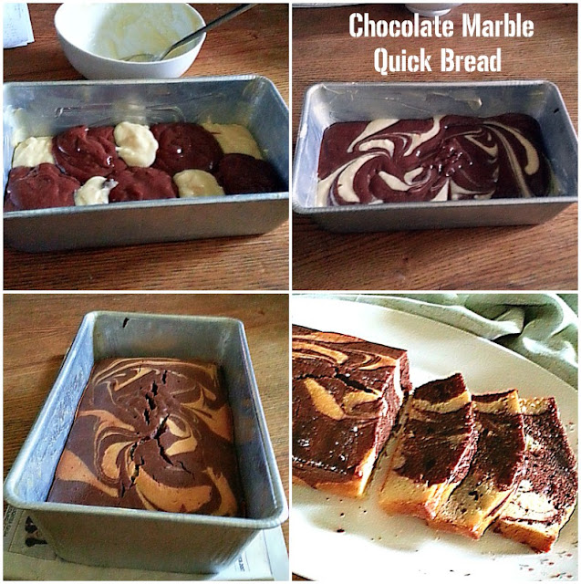 Chocolate Marble Quick Bread Recipe @ treatntrick.blogspot.com