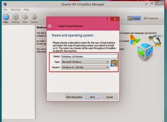 Cara Install Windows 10 Preview di VirtualBox (Beserta Gambar)