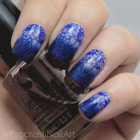 OPI Give Me Space Stamped Gradient nail art