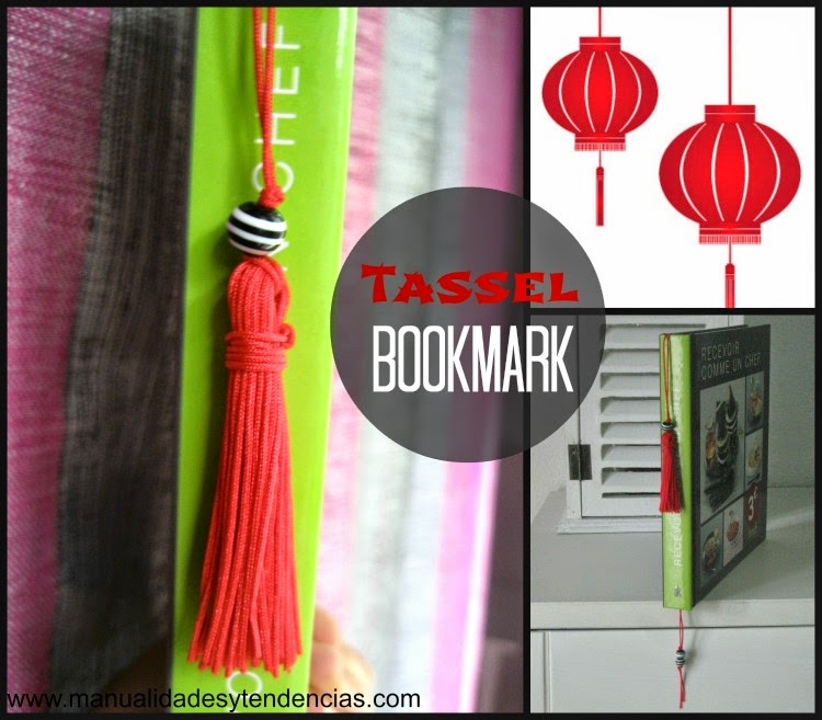 tutorial marcapáginas borla / tassel bookmark tutorial / marque page pompon