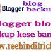 Blog backup kaise banaye