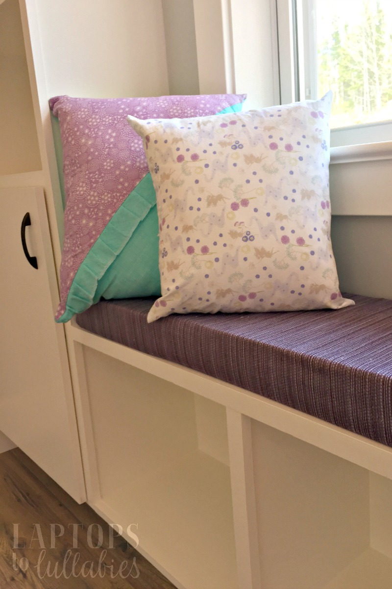Laptops To Lullabies Diy Bench Cushions For Built Ins