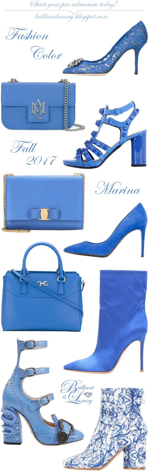 Brilliant Luxury ♦ Pantone Fashion Color ~ marina