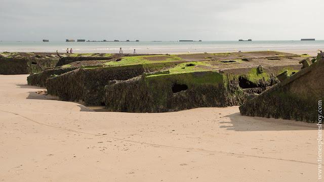 Arromanches Normandia desembarco puertos moviles guerra viaje