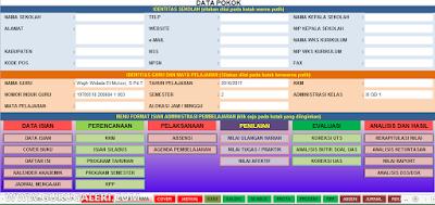 Aplikasi Administrasi Guru Mapel SMP/SMA/SMK Kurikulum 2013