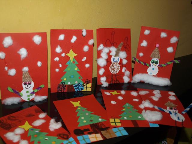Χειροτεχνία χριστουγεννιάτικες κάρτες!