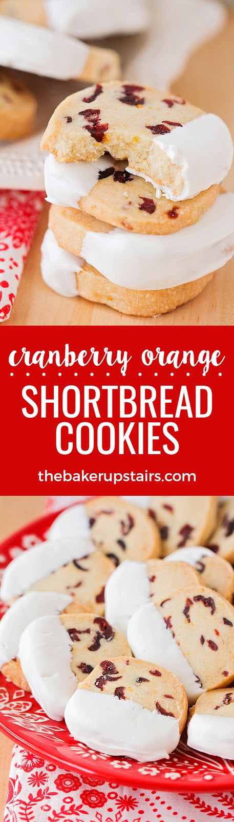 These cranberry orange shortbread cookies are rich and buttery, with the perfect contrast of flavors and textures!