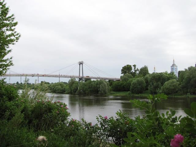 Пешеходный мост через Москва-реку, Воскресенск