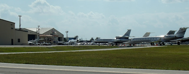 En el aeropuerto de West Palm Beach