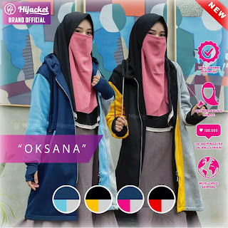 Hijacket Oksana Original Yellow Blue Red Pink Hijacket HJ-OK