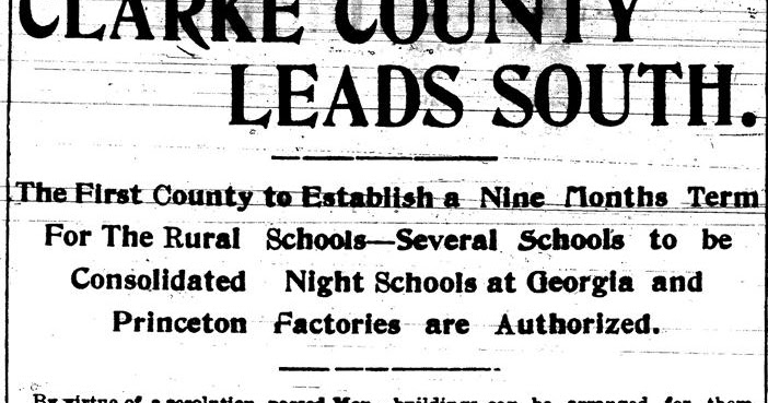 This Day in Athens: 9 January 1903: Nine-Month School Year