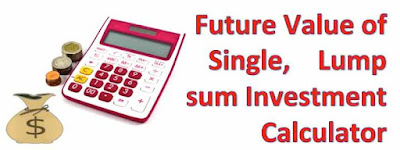 Picture shows concept of future value of single lump sum investment