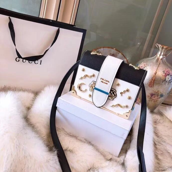4fbf3025b54832 PRADA Limited Edition Celestial Cahier Studded Sling Bag 🎁 Gift Box