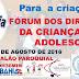 2ª Audiência Pública para a criação do Fórum dos Direitos da Criança e do Adolescente, em Mairi