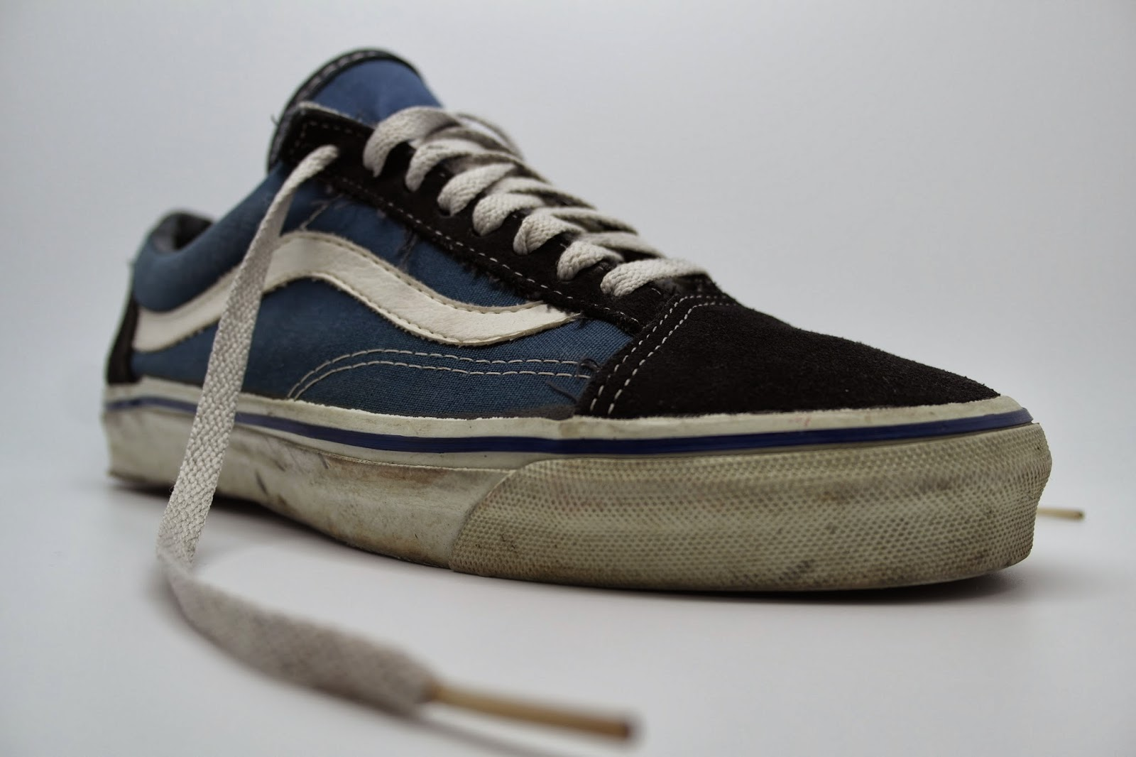 05f094a1a20f theothersideofthepillow  vintage VANS navy suede canvas 90s SKATE staple  MADE IN USA US9.5 original core blue style  36 OLD SKOOL
