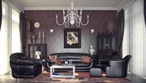 Desain Interior Ruang Tamu Klasik Modern