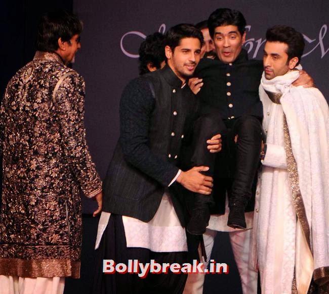 Amitabh Bachchan, Sidharth Malhotra, Manish Malhotra and Ranbir Kapoor, Top Bollywood Celebs at Men For Mijwan Charity Fashion Show