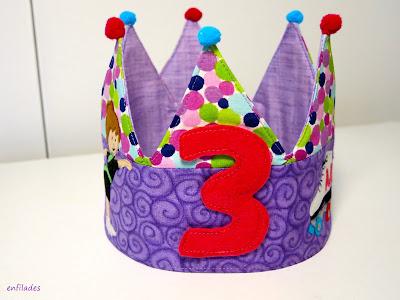 Corona d'aniversari feta a mà per nens i nenes by Enfilades