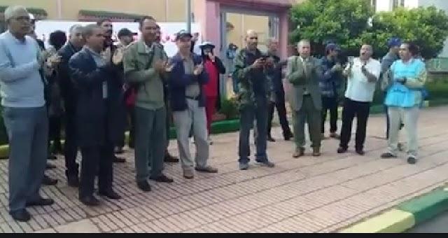 موظفو جماعة الگارة في وقفة احتجاجية