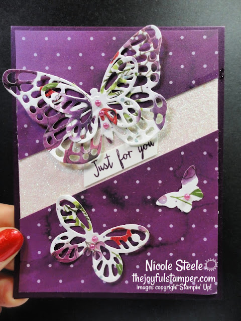 watercolor wings | butterflies | stampin up | thinking of you card | splitcoaststampers | card sketch | card sketch challenge | sc802