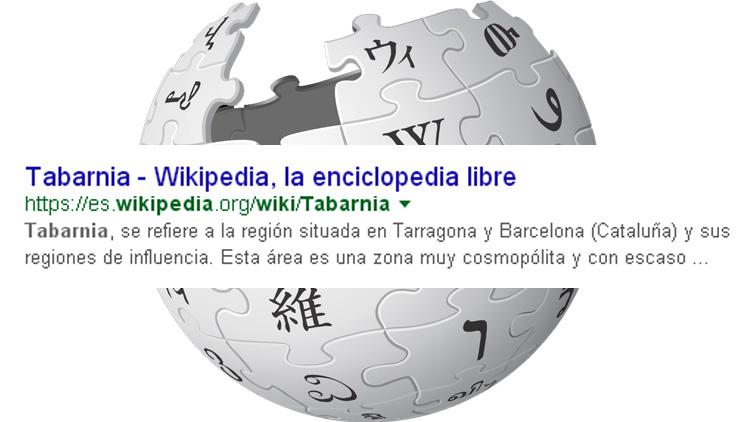 Entrada de wikipedia de Tabarnia