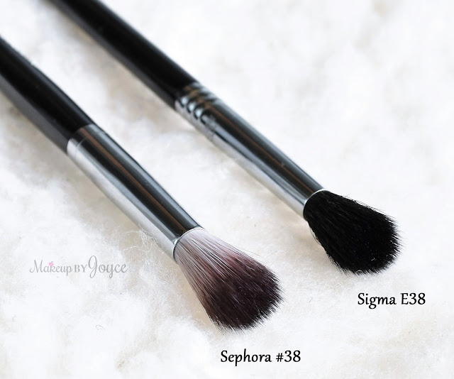 Sephora Collection Pro Featherweight #38 Crease Brush Review Sigma E38 Dupe