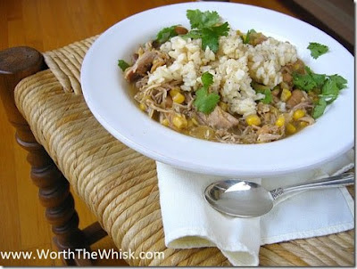 Slow Cooker Green Turkey Chili