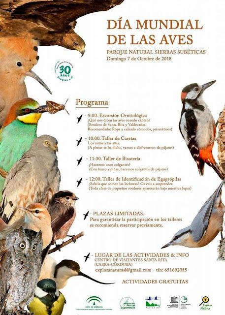 Día Mundial de las Aves en las Sierras Subbéticas 2018