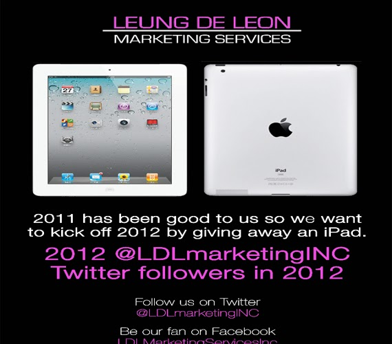 iPAD Giveaway from Leung De Leon Marketing Services