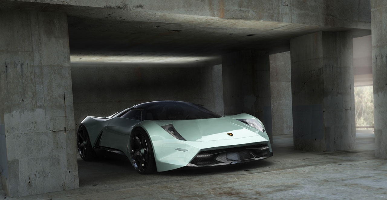 Sketsa Mobil Lamborghini Insecta Concept 2009