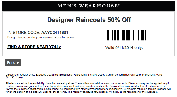 graphic regarding Mens Wearhouse Coupon Printable called Mens warehouse coupon codes : I9 sporting activities coupon