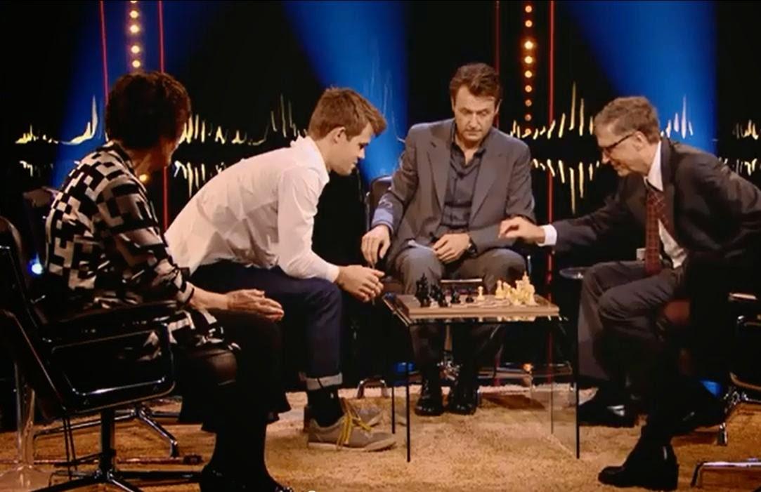 Bill Gates Vs Juara Dunia Catur Magnus Carlsen