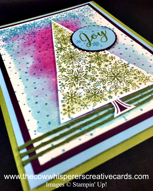 Card, Snow is Glistening, Watercolor, Christmas