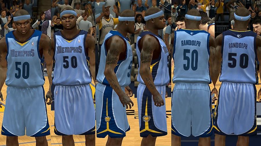 new style a1f2d 5f78b NBA 2K14 Memphis Grizzlies Jersey Pack - NBA2K.ORG